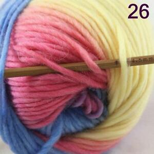 Sale-Lot-of-1-Skein-New-Knitting-Yarn-Chunky-Colorful-Hand-Wool-Wrap-Scarves-26