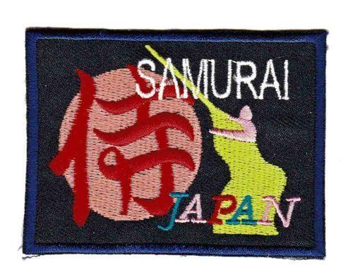 Be96 samurai insignia de japón aplicación Patch perchas imagen Patch 7,5 x 5,7 cm