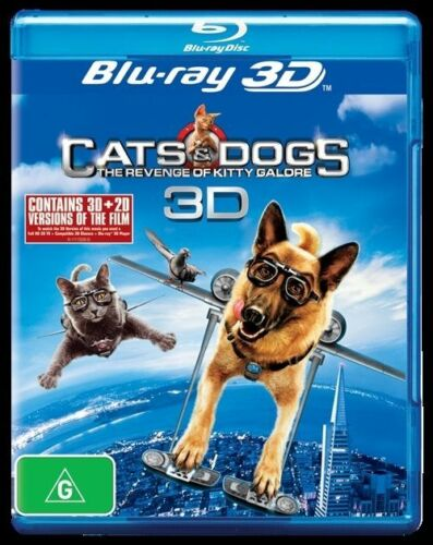 1 of 1 - Cats & Dogs 2 - The Revenge Of Kitty Galore 3D Bluray (2011, 2-Disc Set)