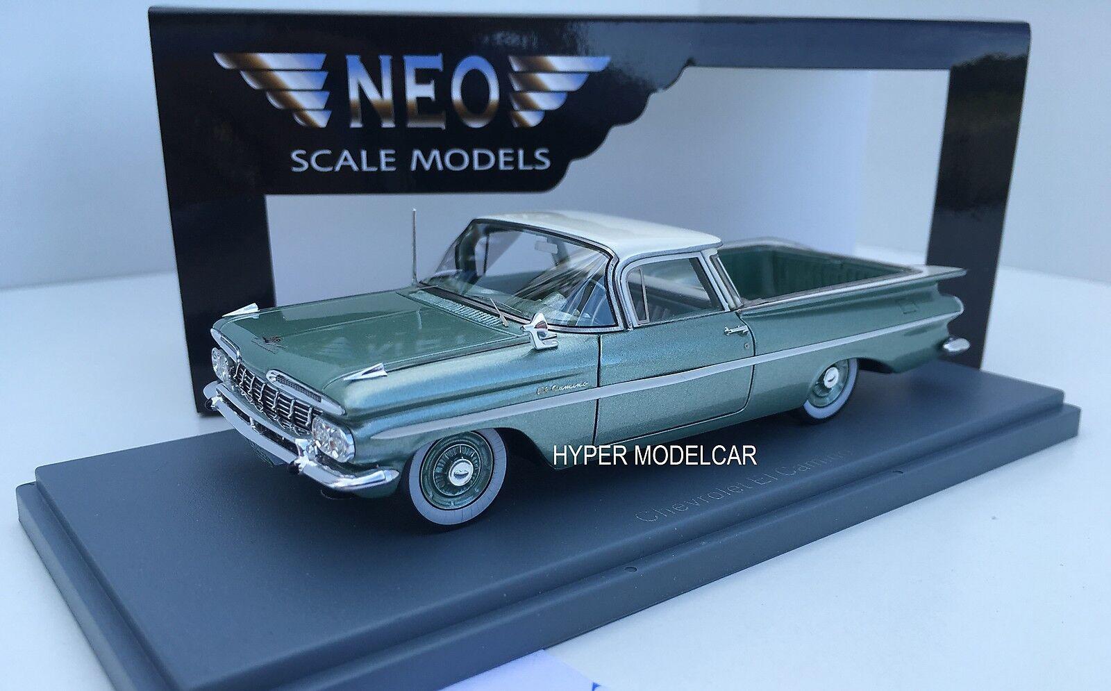 NEO SCALE MODEL 1 43 Chevrolet El Camino 1959 Light verde Met.Art.44851