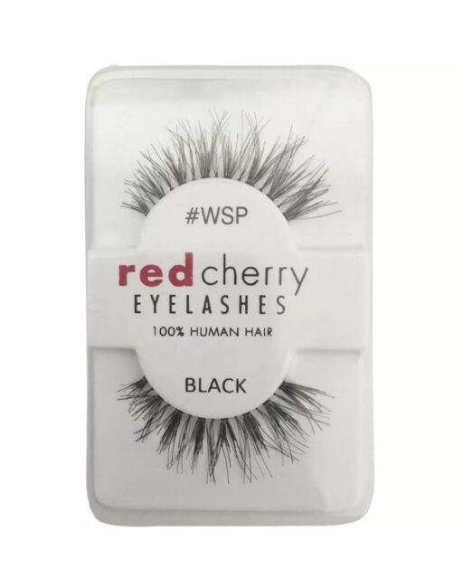 Red Cherry Eyelashes 100 Human Hair Quality False Lashes Wispy Long