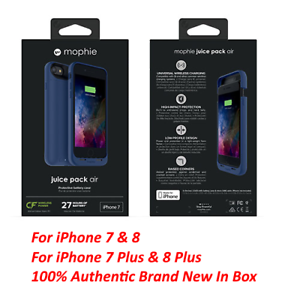 huge discount c71d7 86b69 Details about New Authentic Mophie juice pack air Battery Case For iPhone  7/8 & iPhone Plus