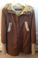 Quiksilver Roxy Brown Parker Coat Warm Snowboard Ski Winter Jacket Womens Size 3