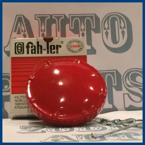 VOLVO IVECO HANOMAG 60mm Red Painted Vented Unlocking Fuel Gas Tank Cap