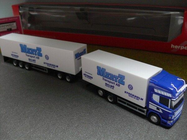 tienda de ventas outlet 1 87 Herpa scania R tl tl tl Mertz transporte suecia s maleta-Hz 302173  entrega rápida
