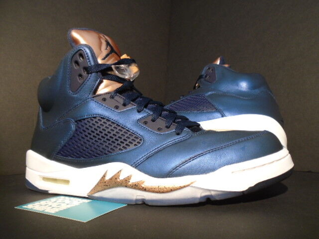 huge selection of 82de6 ccd10 Nike Air Jordan 5 Retro V Bronze Obsidian White 136027-416 Mens Shoes Sz 12