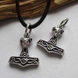 THORSHAMMER Anhänger Kette oder Armband 925er Silber  Mjölnir