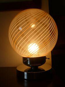 Lampada da tavolo abatjour luce vetro di Murano Venini anni 70 vintage lamp  eBay