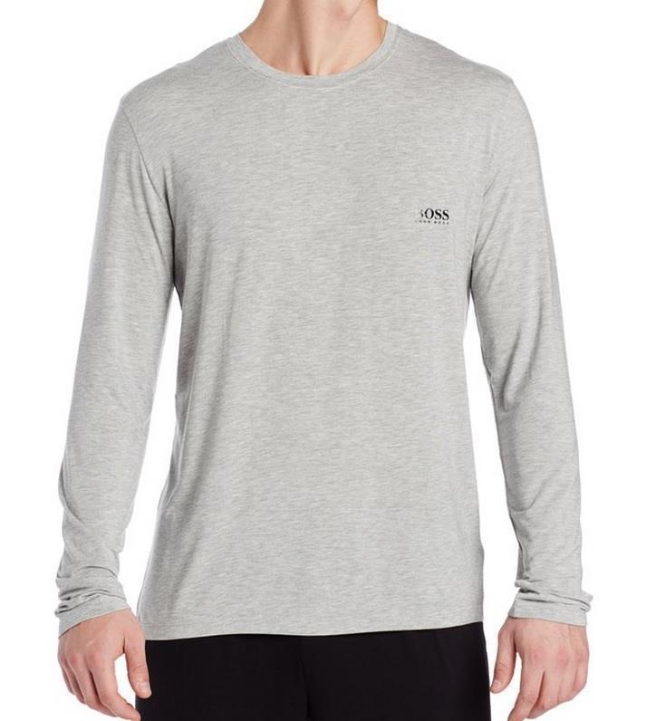 Neu Boss Hugo Boss Herren Modal Nachtwäsche Langärmeliges T-Shirt, Grau   | Reichlich Und Pünktliche Lieferung  | Offizielle  | Mama kaufte ein bequemes, Baby ist glücklich