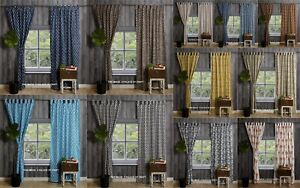 Indian-Floral-Block-Print-Door-Window-Curtains-Cotton-Bohemian-Valance-Set-5-LOT