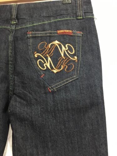 """Mario Nortti Vintage Style Jeans Womens Size 12 Long 35/"""" Leg Tall Navy NEW"""