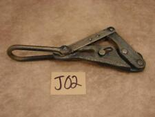J02 Vintage Klein Tools Heavy Duty Cable Wire Rope Grip Puller 1613 40b