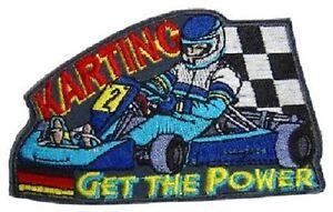 5 x Aufnaeher 10 x 6,2 cm Restposten Sonderpreis B2B Get the Power Karting 447