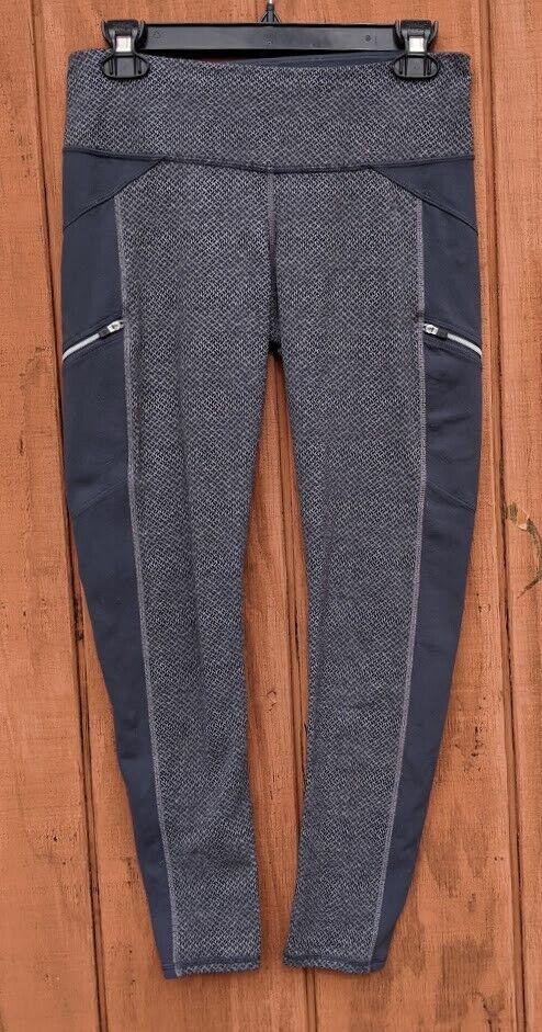 Athleta Criss Cross Drifter Tight Leggings Gray Style #958357 Size S EUC