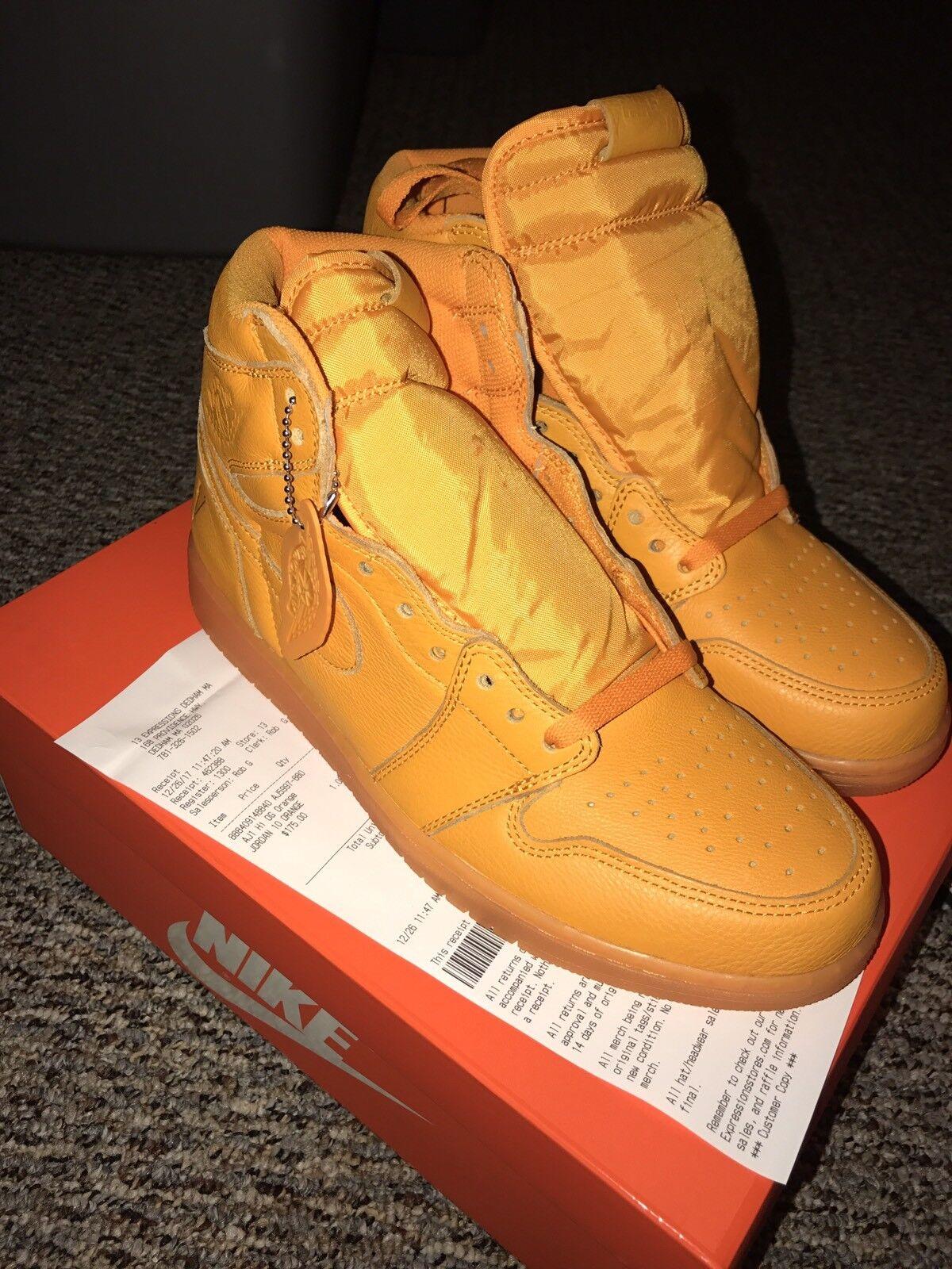 Air High Jordan Retro 1 OG High Air Gatorade Like Mike Orange Peel AJ5997-880 US Size 10 214351