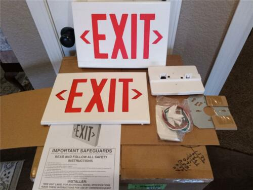 Dual-Lite LXURWE LED Red Emergency Exit Sign Battery Included Universal Mount