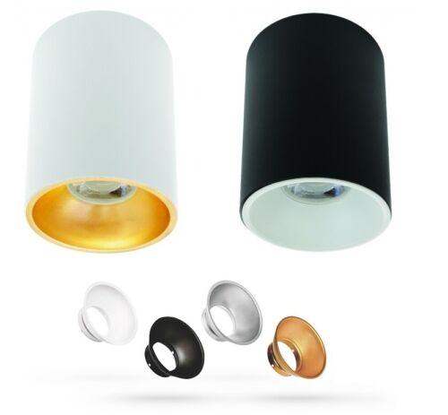 LED Aufbauleuchte Deckenlampe Aufbaustrahler Aluminium Spot Rund GU10 230V