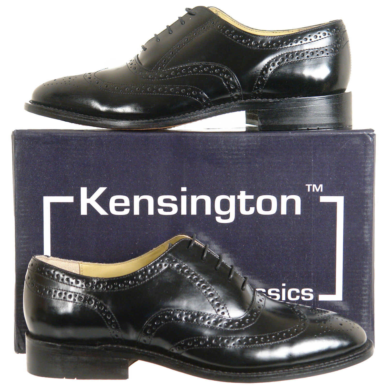 Mens Full Leather Brogues shoes Black FREE UK SHIPPING