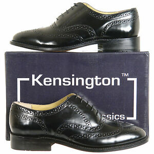 Mens-Full-Leather-Brogues-Shoes-Black-FREE-UK-SHIPPING