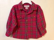Gymboree Vintage Size Medium Red Flannel Plaid Shirt