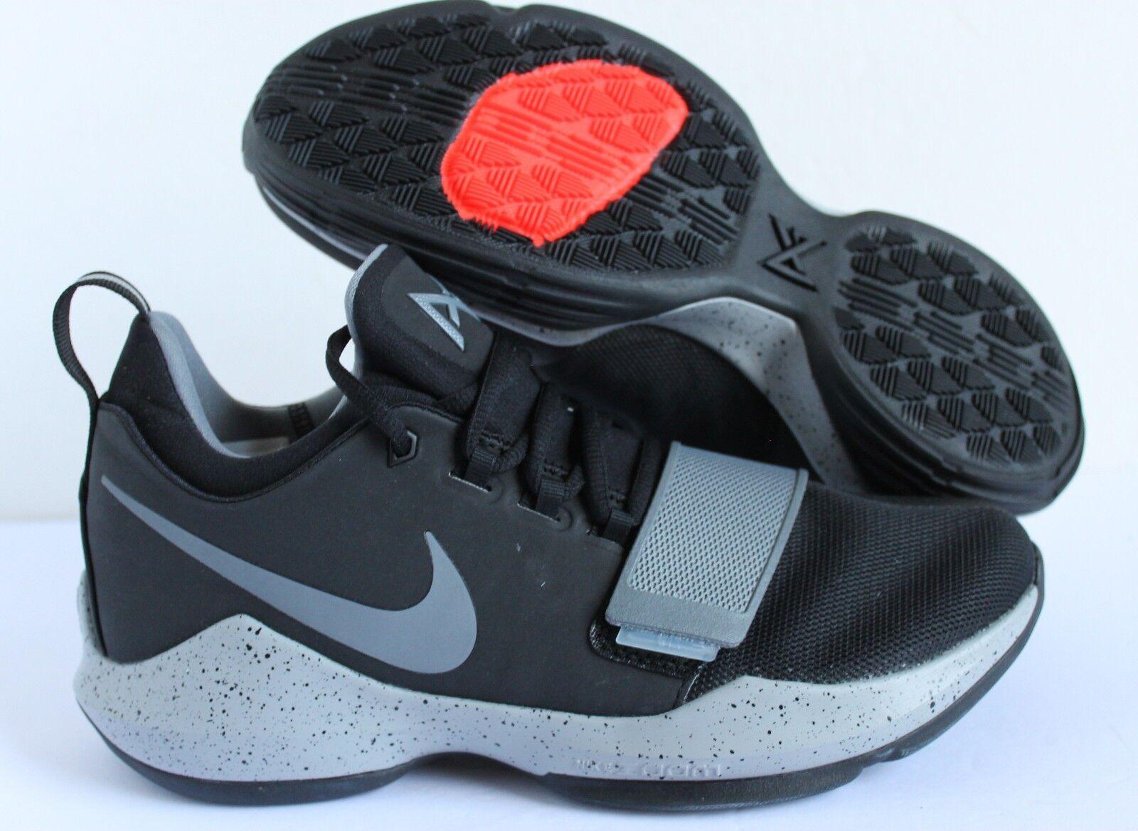 Nike PG 1 Paul George ID Black-Gray SZ Women's 10  [AA1748-991]
