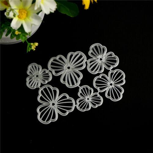 6Pcs Flowers Design Metal Cutting Dies For DIY Scrapbooking Album Paper Cards ZF
