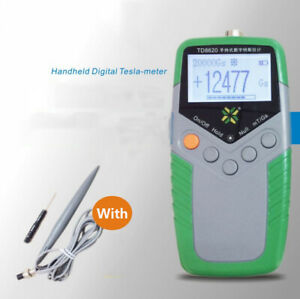 TD8620 Digital Gauss Meter Surface Magnetic Field Tester Flux Meter