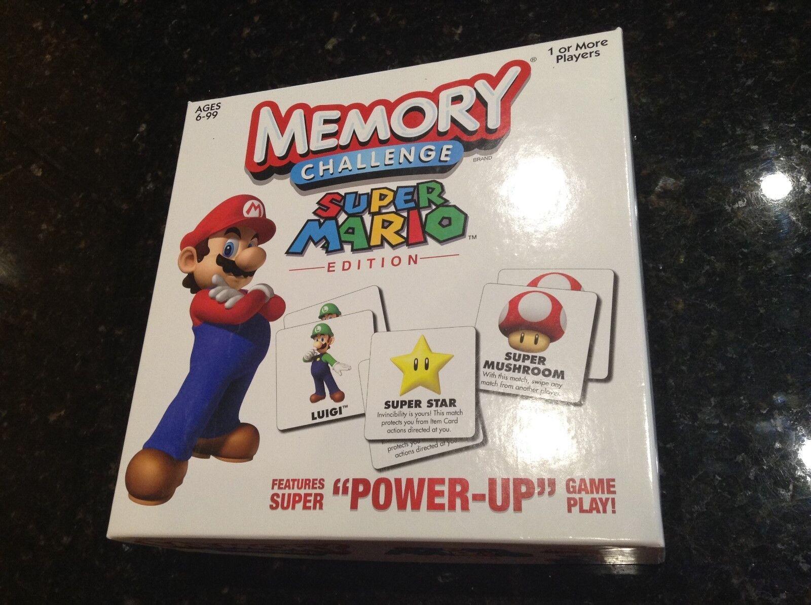 Super Mario MEMORY Chtuttienge Match autod gioco completare EUC   buona reputazione
