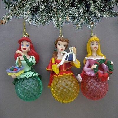 Disney Princess Ornaments Ariel, Aurora, Belle Bradford Exchange