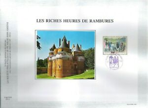 FEUILLET PHILATELIQUE SUR LES RICHES HEURES DE RAMBURES 8 MAI 1986