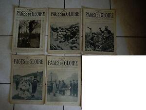 lot-revues-x5-PAGES-DE-GLOIRE-1ere-Guerre-Mondiale-Verdun-Nieuport-Neuville