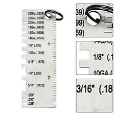 Wire /& Metal Gauge Sheet Thickness Welding Welder Weld Gage Size Inspection Tool for sale online