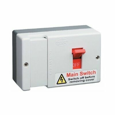 Click Essentials DB700 80A Switched Disconnector Fuse Main Switch Isolator