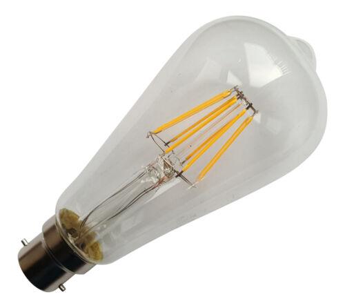 B22 BC 240V 6.5W 800LM WARM WHITE 2700K LED FILAMENT RETRO DESIGN BULB ~80W