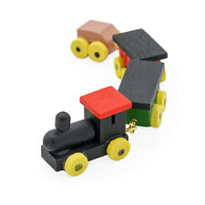 1//12 Doll house Miniature Wooden Carriages and Train Toy SetNWUS