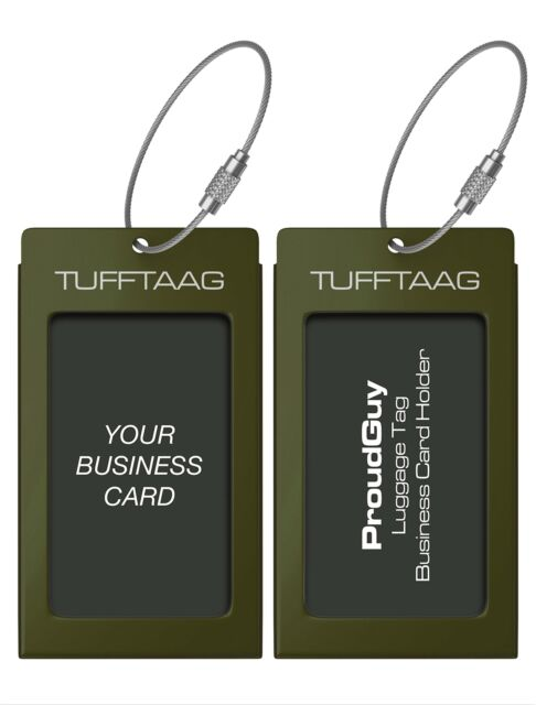 luggage tags business card holder tufftaag travel id bag tag in many