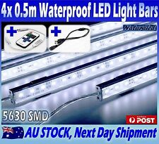 4X12V Waterproof Cool White 5630 Led Strip Lights Bars Car Camping Boat+Remote