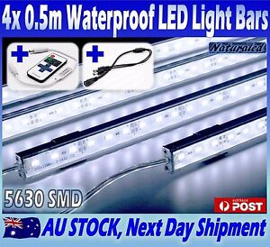 4x12v waterproof cool white 5630 led strip lights bars car camping image is loading 4x12v waterproof cool white 5630 led strip lights aloadofball