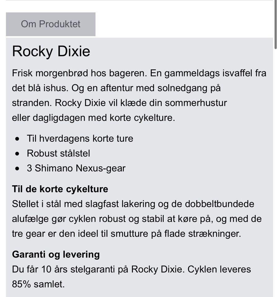 Damecykel, Rocky, 3 gear