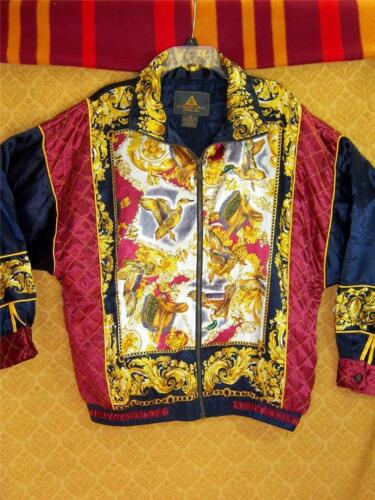 Golden Dragon Lady JACKET Quilted VINTAGE Womens X