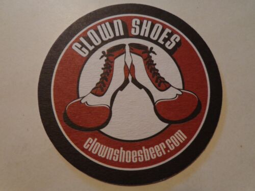 Collectible Beer Bar Coaster ~*~ Ipswich Ale Brewery CLOWN SHOES ~ Massachusetts