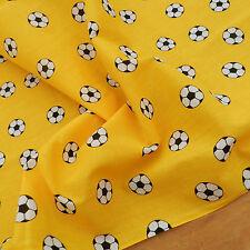 """Al Metro Tessuto in Policotone Football Giallo/materiale ampio 44"""" 112cm"""