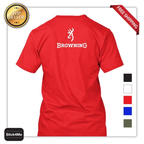 BROWNING HUNTING T-SHIRT 100/% COTTON 5 COLORS BACK\FRONT PRINT 2 DAYS SALE!
