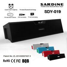 Wireless Bluetooth Sardine Sdy-019 Speaker Sound Box TF USB FM Radio Alarm New