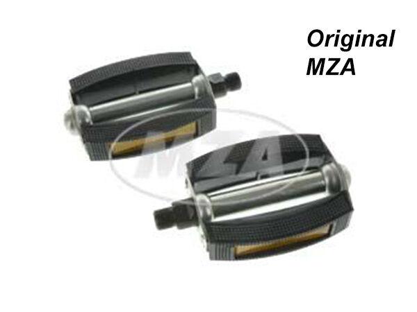 100% Vero Simson Set Pedal Arrotondati Ausf Sr1 Sr2 Sr2e Mofa Sl1 Sr4 1 Acciaio Assale