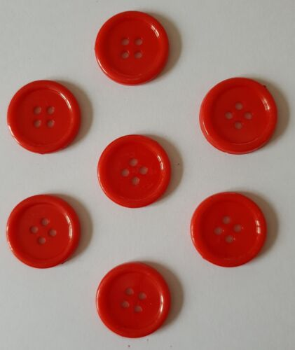 Assorted Colours Available Four Hole Buttons Size 20mm