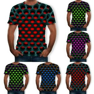 Men-Summer-3D-Style-Printed-Short-Sleeves-Comfort-Blouse-Sports-Top-T-Shirt-Plus