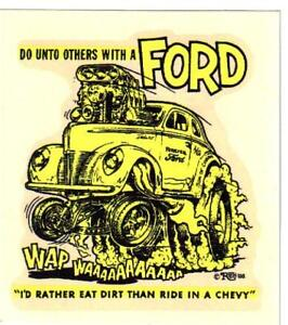 Details about ORIGINAL VINTAGE ED ROTH DECAL 1940 FORD DeLUXE COUPE HOT ROD  GASSER NHRA AHRA
