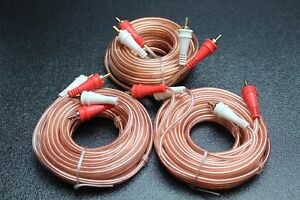 RCA 12 Ft Cable Audiopipe Stereo Interconnect Car Audio Home Cables 2 Channel