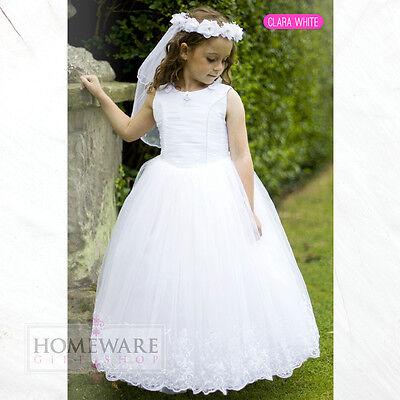GIRLS HOLY COMMUNION DRESSES BRIDESMAID WEDDING FLOWER GIRL DRESS UK SIZES NEW